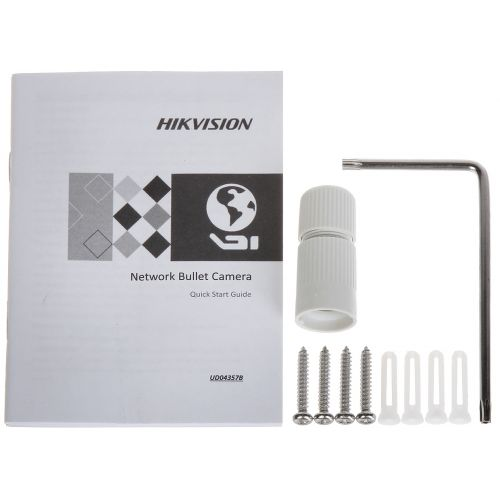Camera IP Bullet Hikvision DS-2CD2T43G0-I5, Full HD, 4 MP, lentila fixa 2.8 mm, IR 50 m, PoE 802.3af & 12V DC