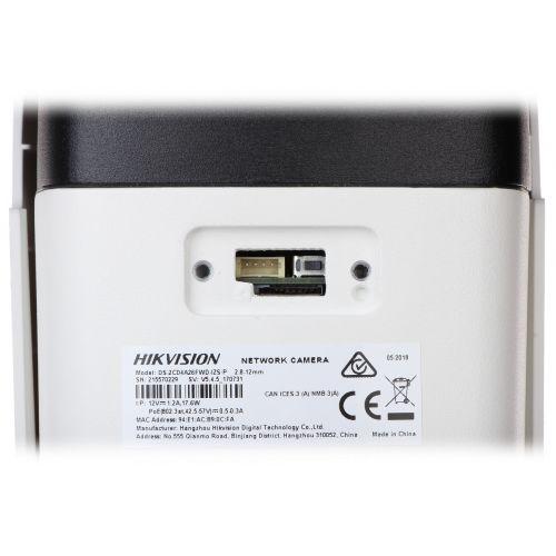 Camera de supraveghere IP Bullet LPR ANPR Hikvision DS-2CD4A26FWD-IZS/P, Full HD, 2 MP, lentila varifocala 2.8 - 12 mm, IR 50 m, IP67, alimentare PoE 802.3af sau 12V DC