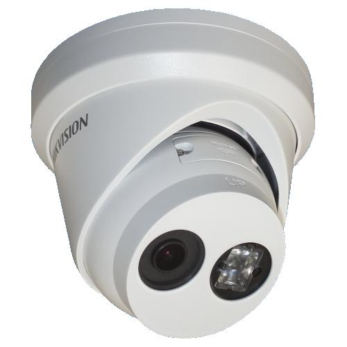 Camera de supraveghere IP Dome Hikvision DS-2CD2345FWD-I, Full HD, 4 MP, lentila fixa 2.8 mm, IR 30 m, IP67, alimentare PoE 802.3af sau 12V DC