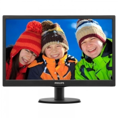 "Monitor PHILIPS LED TN 18.5"", Wide XGA, Black, 193V5LSB2"