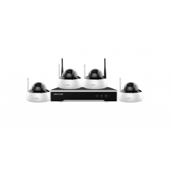 Kit 4 camere IP Wi-Fi de 4 MP Hikvision. Include 4 camere IP Wi-Fi Dome, NVR, HDD 1TB