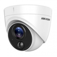 Camera de supraveghere Dome Turbo HD Hikvision DS-2CE71H0T-PIRLPO, 2K, lentila fixa 2.8 mm, 5 MP, IR 20 m, IP67, BNC, 12V, Detector PIR incorporat
