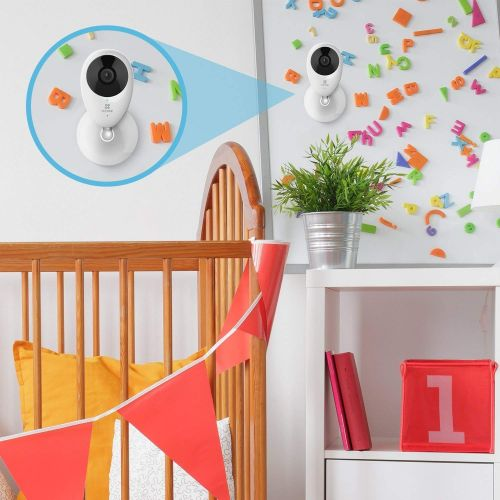 Camera de supraveghere IP Wi-Fi C2C (Mini O Plus) Ezviz CS-CV206 (CS-CV206-C0-3B2WFR), Full HD, 2 MP, lentila fixa 2.8 mm, IR 7.5 m, alimentare 5V DC