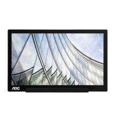 "Monitor Portabil 15.6"" AOC I1601FWUX, WLED, IPS, Full HD, Argintiu"